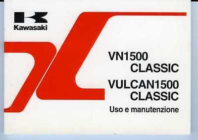 Acquista A Buon Mercato Kawasaki Vn 1500 Classic Vulcan 1997 Manuale Uso Manutenzione Originale Italiano