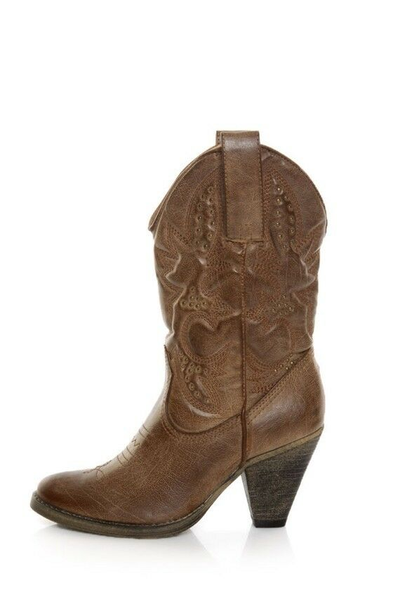 Very Volatile     Denver Cowgirl Stiefel Tan c5f9b6
