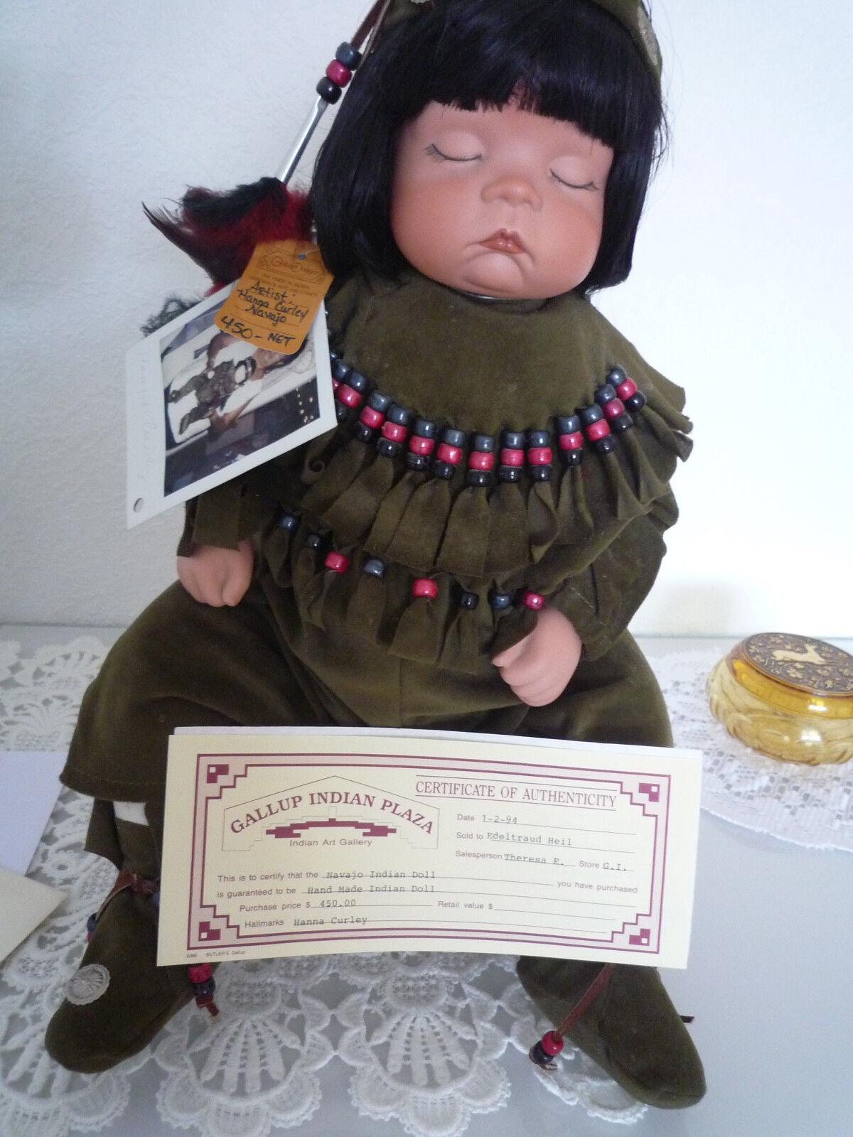 Puppe Handarbeit von von von einer Navajo Indianerin mit Zertifikat c4d196