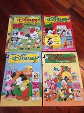 Disney Magazine #106 107 114 115 stickers Snow White Mickey Mouse Uncle Scrooge