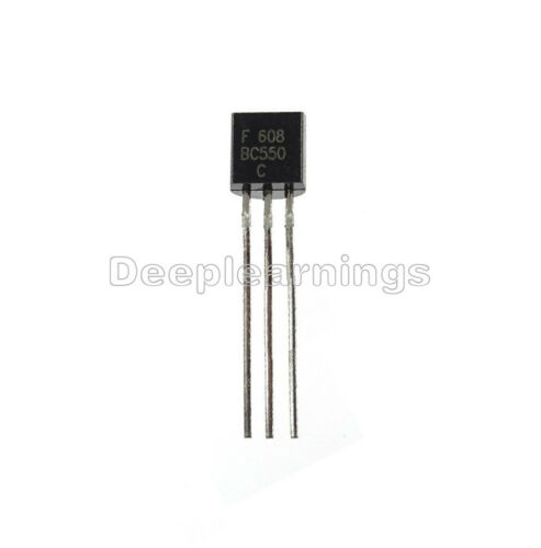 50PCS BC550 TO-92 NPN Low Noise Transistor NEW