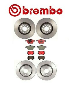 For Audi A4 05-08 Basic Brake KIT Disc Rotors /& Ceramic Pad Sets Original Brembo
