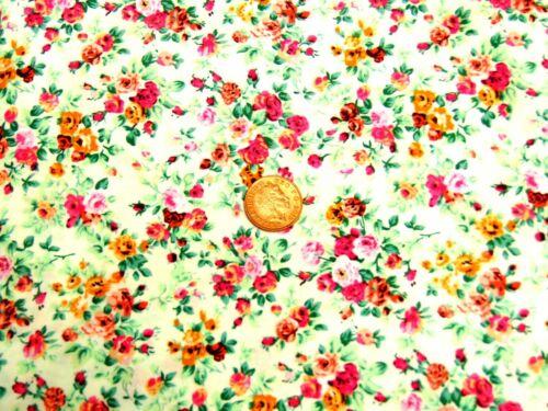 Escala 1:12 material de algodón patrón floral de varios colores tumdee Mzq Casa De Muñecas