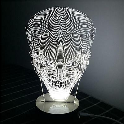 3D LED DC Suicide Squad Joker Batman Night Light Desk Table Lamp Gifts Brand New