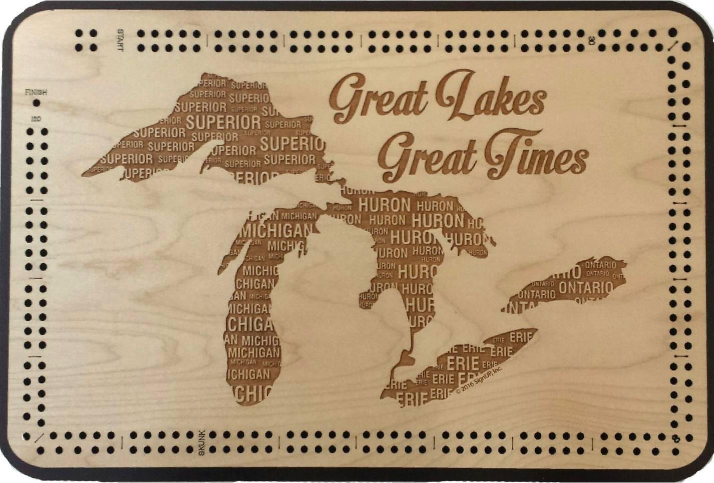descuento de ventas Los Los Los Grandes Lagos grandes momentos Cribbage Board-gran lago Decoración  venta de ofertas