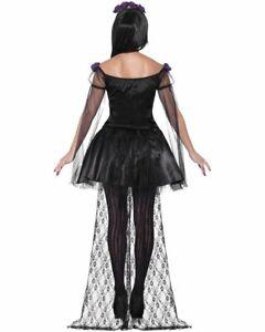 Detalles De Cl602 Día De Muertos Calavera Mexicana Español Señorita Halloween Vestir Traje Ver Título Original