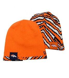 Denver Broncos New Era ZUBAZ Flip OTC OSFA Reversible Knit Beanie Toque Hat NWT