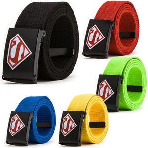 Superman-039-s-Fashionable-Canvas-Belt-Men-039-s-Trousers-Belt-Children-Birthday-Gifts