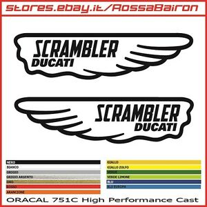 Details About Kit 2 Stickers Ducati Scrambler Classic Mm154x40 Stickers Aufkleber Pegatinas Show Original Title