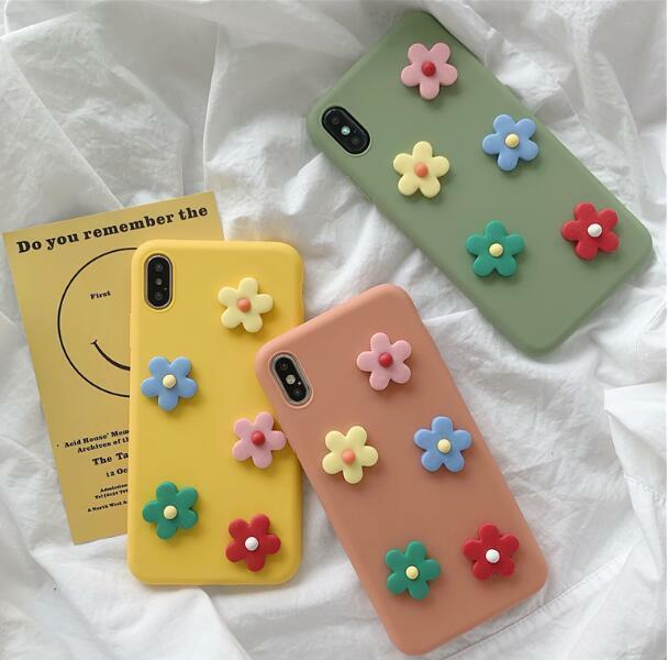 Details about 3D Flower Colorful Soft Silicone Case Cover for iPhone 6 7 8 Plus Xs 11 Pro Max