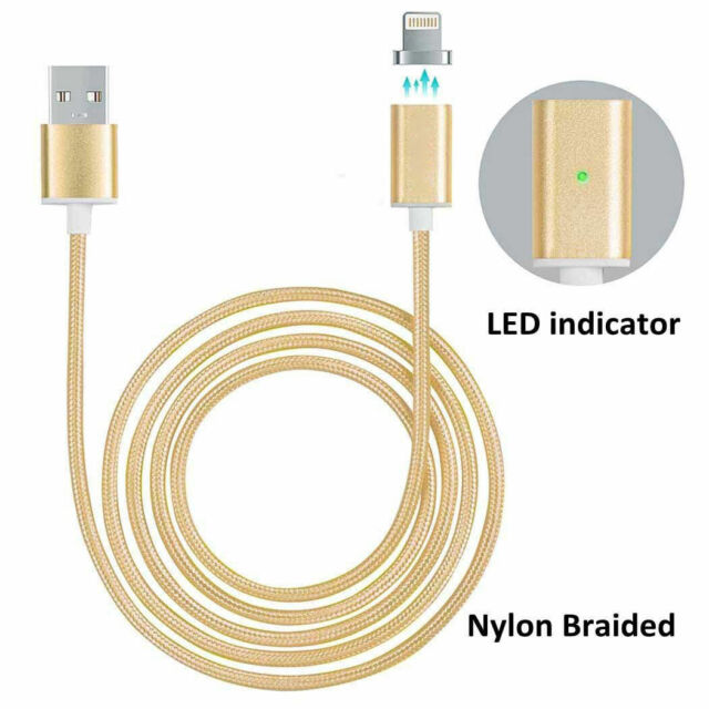magnético trenzado USB Lightning Cargador con cable para Apple iPhone Samsung