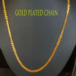 7b78edef950f5 Details about Yellow Gold Plated DESIGNER chain,necklace, long Chain Indian  Kapa jewelry