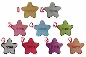Star-shape-Embroidered-Personalised-Sew-on-Iron-on-name-badge-patch-size-74X78mm