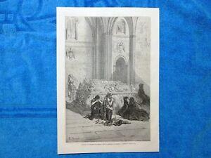 Gravure-Annee-1864-Tombeau-de-Ferdinand-et-d-039-Isabelle-cathedrale-de-Grenade