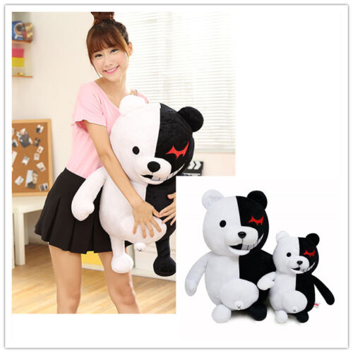 "22/"" Dangan Ronpa Mono Kuma Monokuma White/& Black Bear soft Plush toy doll 14/"""