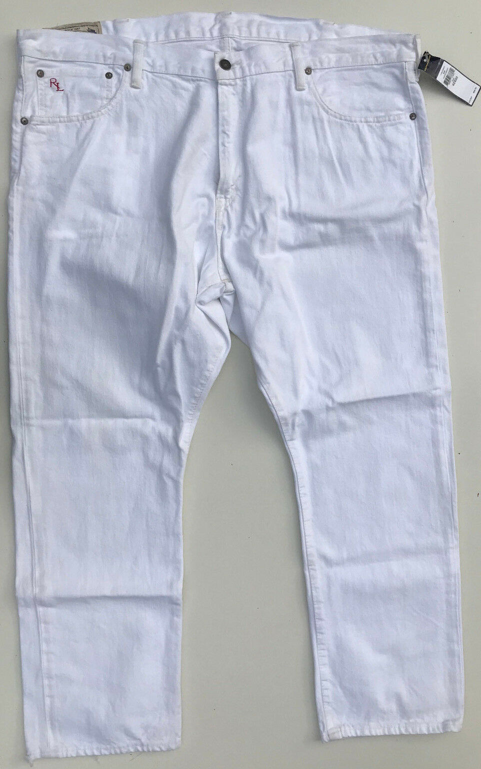 POLO RALPH LAUREN 'HAMPTON STRAIGHT' White Jeans Size W42 L30 RRP  NEW Mens