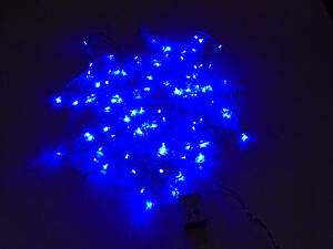 Image Is Loading Led Christmas Lights Blue Exterior 100ft Roll 300