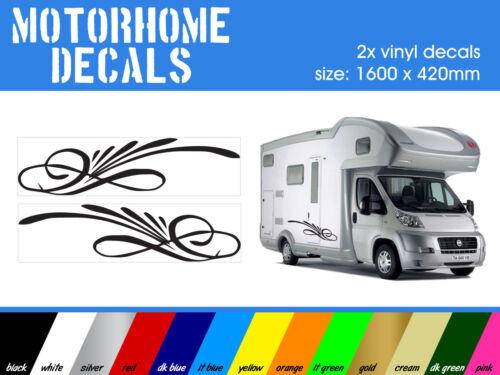 code 004 2x stickers en vinyle-camion motorhome caravan Camper-autocollants