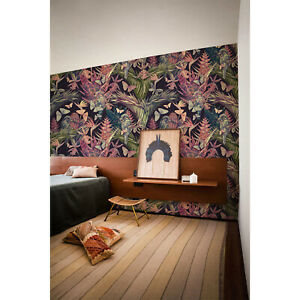 Vintage-Floral-Jungle-Hummingbird-Removable-Wallpaper-Peel-amp-Stick-Wall-Covering