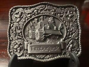 Timberjack Belt Buckle Floral Leaves Acorns 550 Skidder Very Sturdy and Detailed