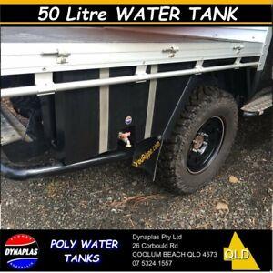 BLACK-50-Litre-UTE-WATER-TANK-4wd-4x4-CAMPER-TRAILER-TAP-DRINKING-FOOD-GRADE