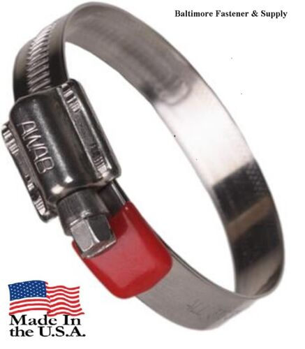 1-1//16-1-1//2 W//RED VINYL TAIL TIPS  QTY-10 AWAB 316 STAINLESS HOSE CLAMPS #16