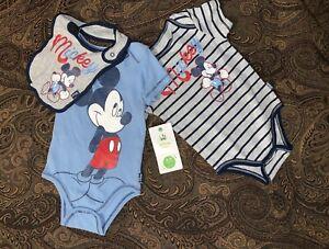 Disney Baby Set of 3 Mickey Mouse Bibs