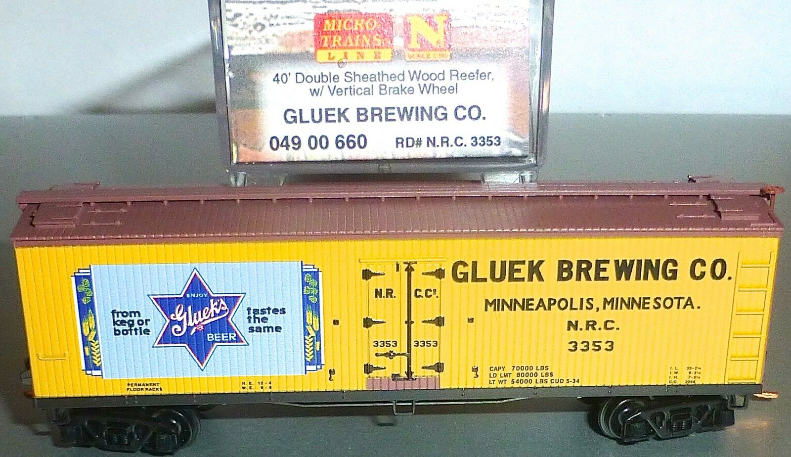 Sliding Production Beer Co 40 Double Sheathed Micro Train 049 00 660 N 1 160