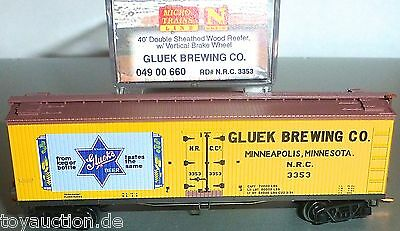N Scale Glueck Brewing Co 40 Double Sheathed Micro Trains 049 00 660 N 1:160 Ovp Hs3 Å Beneficial To The Sperm
