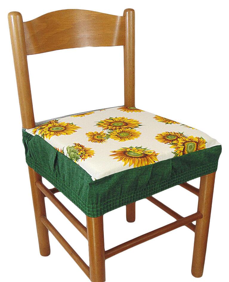Dettagli su Due cuscini quadrati COPRISEDIA quadrato con elastico 2 pezzi girasole verde