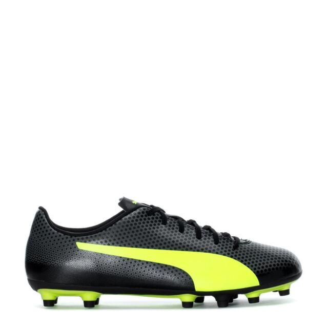 Puma Men's Spirit FG Cleats (Black/Yellow) 104492 03*