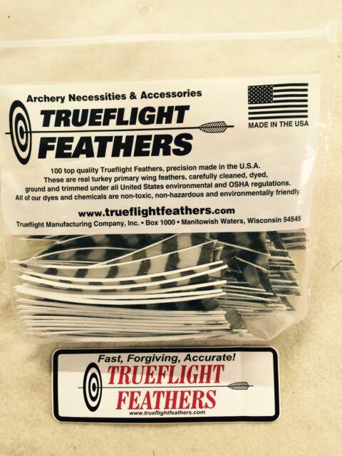 Trueflight 5 inch Feathers Left Wing Shield Cut 100 pack Orange