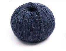 100% Luxurious Baby Alpaca Wool/Yarn Melange Blue 66 DK 50g knitting crochet