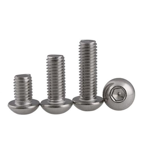 Details about  /Button Cap Hex Head Allen Bolt Socket Screw M3 M4 A2 Stainless Steel DIN 7380