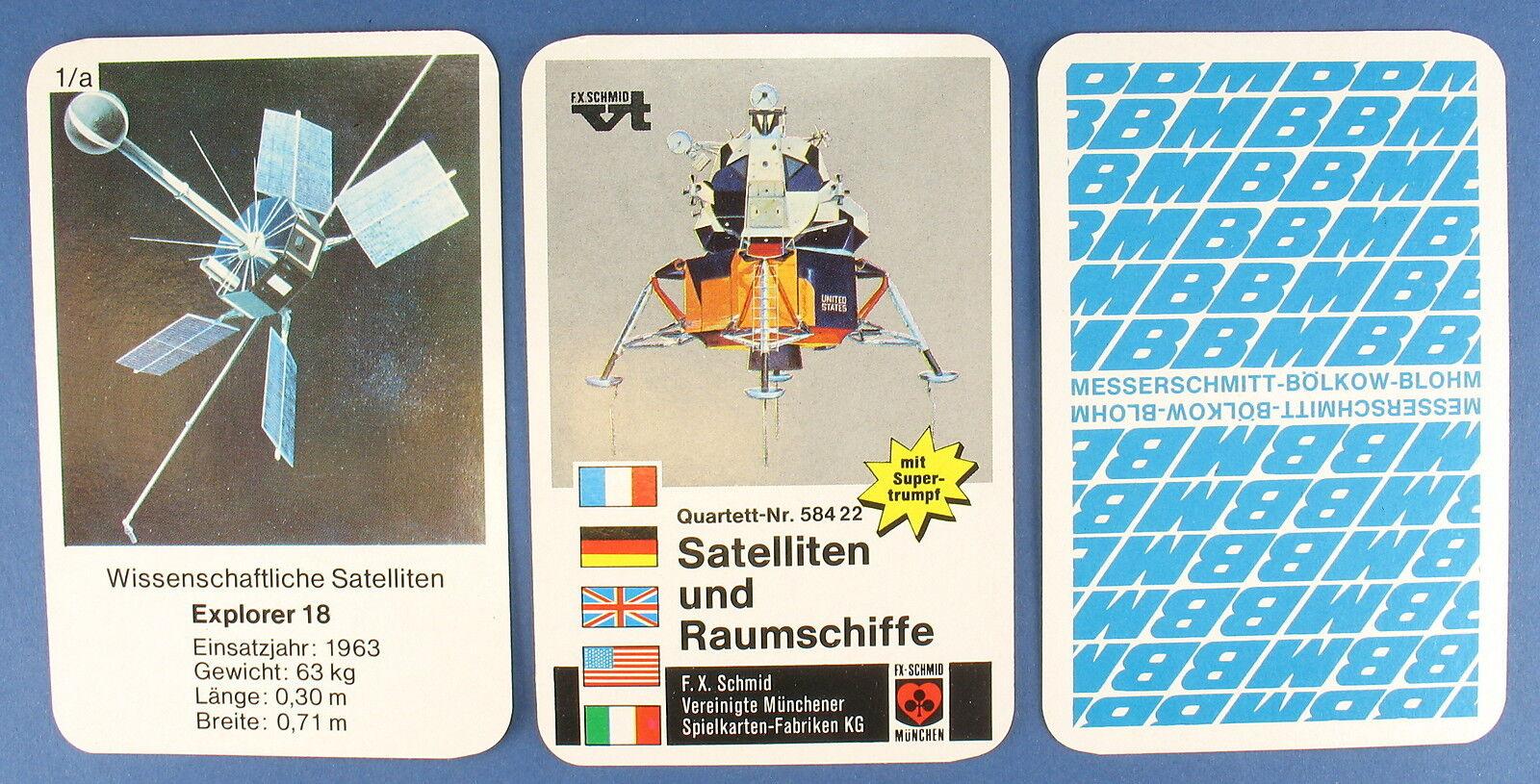 Publicité-Quatuor-Satellite vaisseaux spatiaux-MBB couteau Schmitt-bôlkow-MESSERSCHMITT Schmid 2