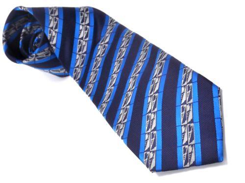 Frank Lloyd Wright HORSEMAN Art Design Inspired Beautiful Silk TIE Navy Blue