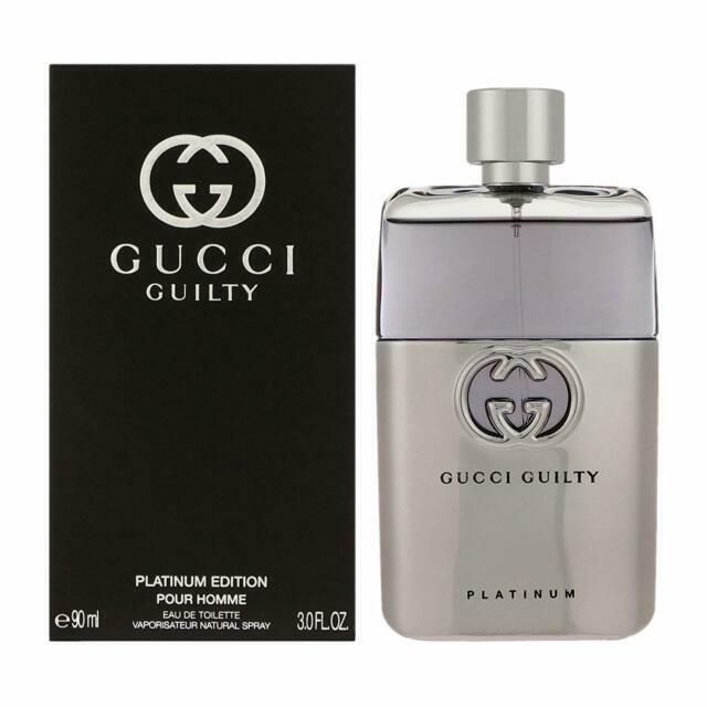 Gucci Guilty Platinum Edition Eau De Toilette for Men 3 fl.oz.