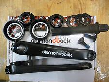 DiamondBack 3 Piece Crank Set BMX Bike Cycle Axle Arms Old School Size Bearings