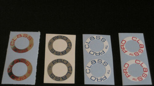 5 COLORS PRO CLASS RIM DECALS-CHOICE OF