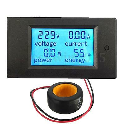 AC 100A Digital LED Power Panel Meter Monitor Power Energy Voltmeter Ammeter