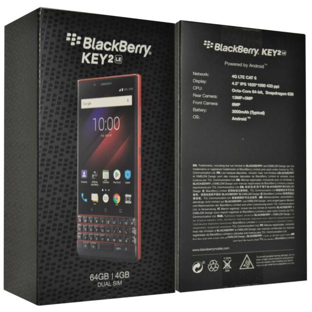 BlackBerry Key2 Le Dual-sim Atomic Red 64gb Bbe100-4 QWERTY Factory Unlocked