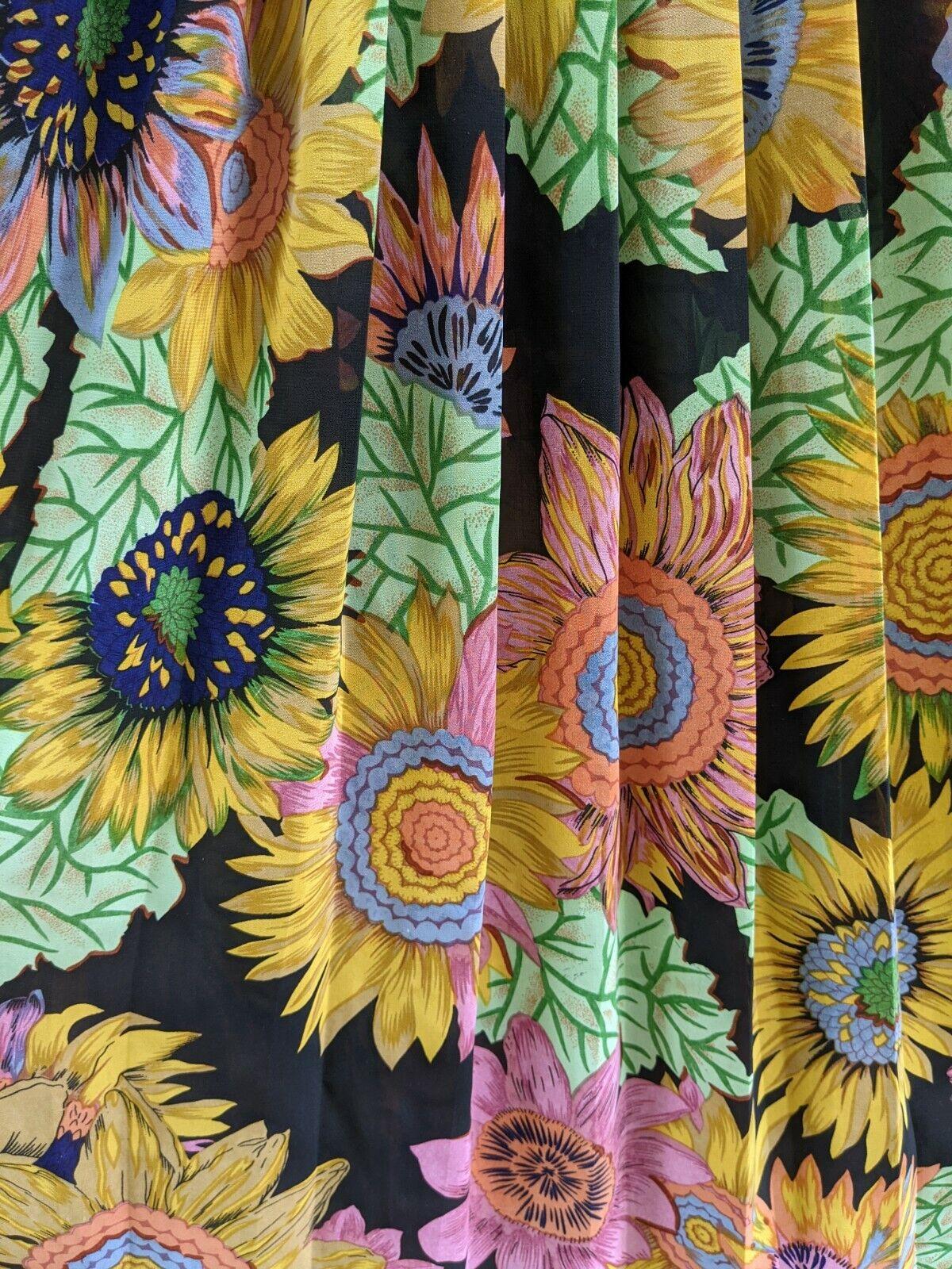 Vtg 90's Midi Dress Sunflowers RARE! Sundress Flo… - image 10