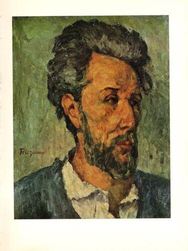 """1963 Vintage CEZANNE /""""PORTRAIT OF CHOCQUET/"""" COLOR offset Art Print Lithograph"""
