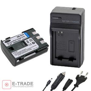 NB-2L NB-2LH Cargador de batería para Canon EOS 350D 400D G9 S30 S40 S70 ZR OPTURA