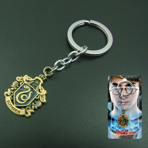 Harry Potter Slytherin Logo Metal Key Chain/Ring NIB