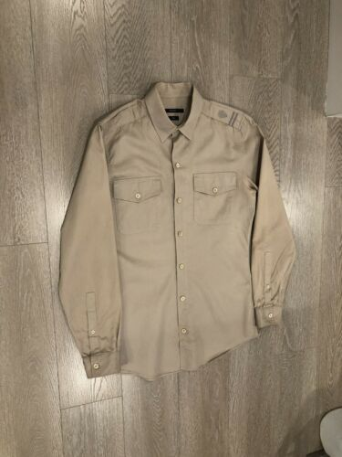 Amazing Men's Gucci Military Slim Shirt Khaki Size