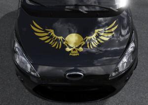 Details Zu Aufkleber Totenkopf Auto Skull Xxl Motorhaubenaufkleber Flügel Klein Groß Tattoo