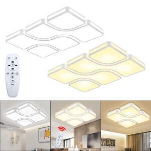 36W-88W Dimmbar LED Deckenlampe Modern Deckenleuchte Wohnzimmer Acryl Diele IP44