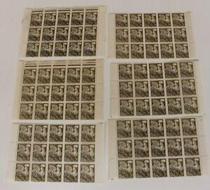6-bloc-pre-obliteree-timbres-francais-avec-gommes-coq-gaulois