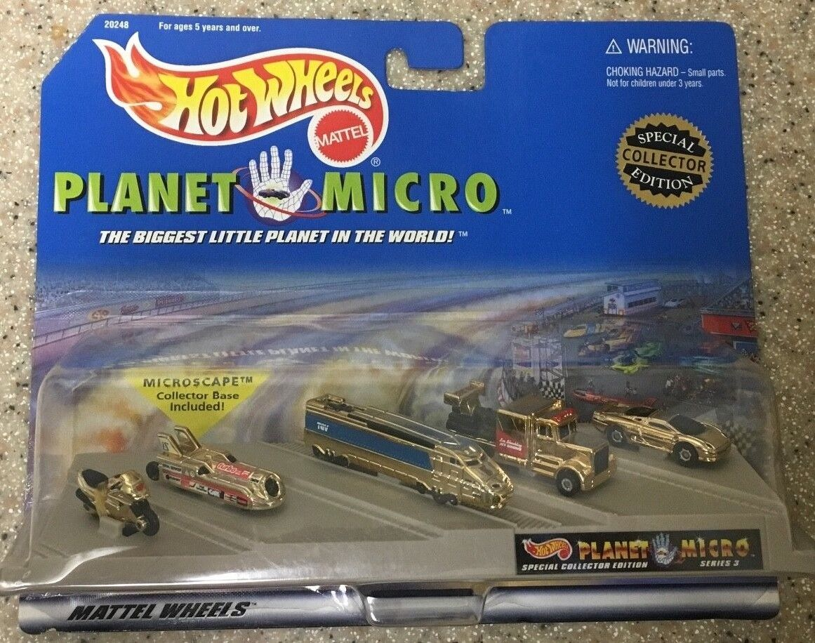 Mattel hot wheels planeten micro 1997 collector 'ausgabe 3 nib